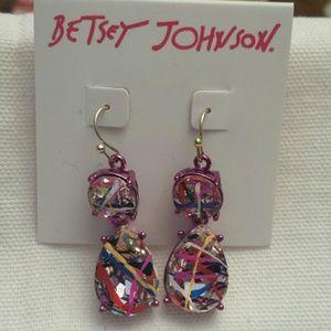 Betsy Johnson NWT Multicolored Earrings